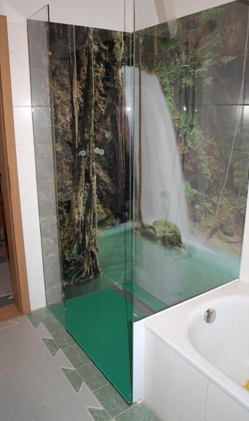 Glasbilder Für Badezimmer: Bilder Prägen Räume